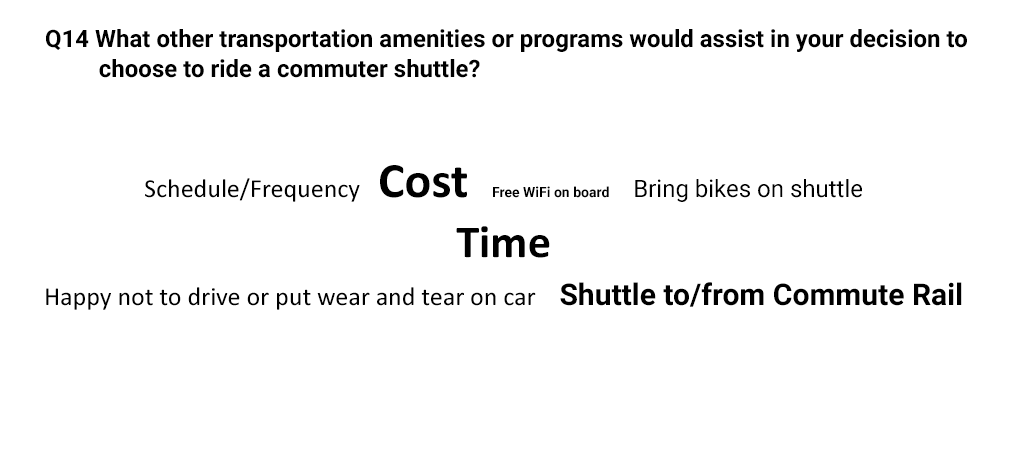 commute survey result